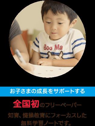 お子さまの知育や情操教育をサポートする学習フリーペーパーです